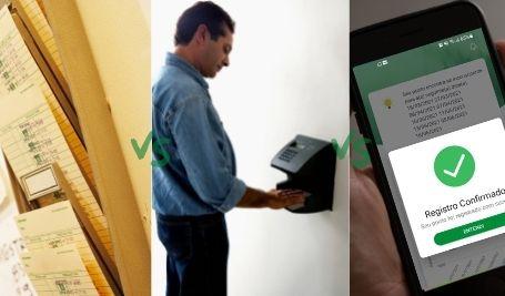 diferença cartão de ponto, ponto eletrônico, aplicativo de ponto eletrônico
